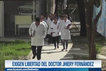 EXIGEN LIBERTAD DEL DOCTOR JHIERY FERNÁNDEZ