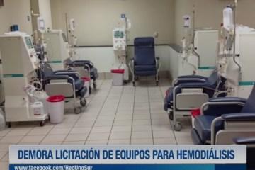 DEMORA LICITACIÓN DE EQUIPOS PARA HEMODIÁLISIS