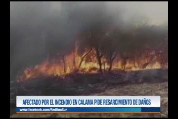 AFECTADO POR EL INCENDIO EN CALAMA PIDE RESARCIMIENTO DE DAÑOS