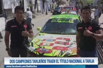 DOS CAMPEONES TARIJEÑOS TRAEN EL TÍTULO NACIONAL A TARIJA