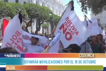 DEFINIRÁN MOVILIZACIONES POR EL 10 DE OCTUBRE