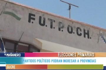 PARTIDOS POLÍTICOS PODRÁN INGRESAR A PROVINCIAS