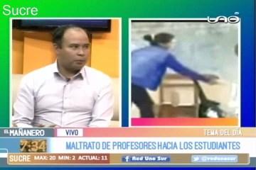 TEMA DEL DÍA: MALTRATO DE PROFESORES HACIA LOS ESTUDIANTES