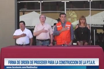 FIRMA DE ORDEN DE PROCEDER LA CONSTRUCCIÓN DE LA P.T.A.R.