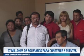 27 MILLONES DE BOLIVIANOS PARA CONSTRUIR 6 PUENTES