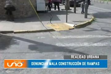 DENUNCIA MALA CONSTRUCCIÓN DE RAMPAS