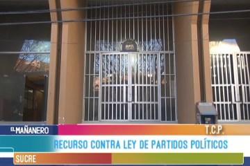 RECURSO CONTRA LA LEY DE PARTIDOS POLÍTICOS