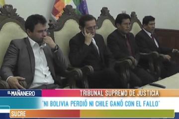 """""""NI BOLIVIA PERDIÓ NI CHILE GANÓ CON EL FALLO"""""""