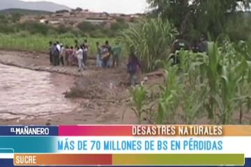 MÁS DE 70 MILLONES DE BS DE PÉRDIDAS POR DESASTRES NATURALES