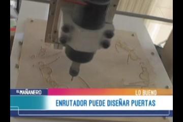 LO BUENO: ENRUTADOR O ROUTER DE MADERA HECHO EN POTOSÍ