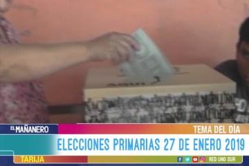 TEMA DEL DÍA: ELECCIONES PRIMARIAS EN BOLIVIA