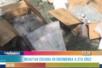 INCAUTAN COCAÍNA EN ENCOMIENDA A SANTA CRUZ