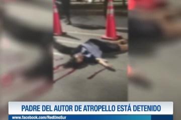 PADRE DEL AUTOR DE ATROPELLO ESTÁ DETENIDO