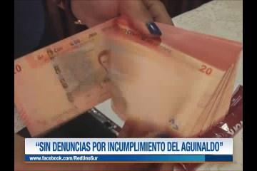 """""""SIN DENUNCIAS POR INCUMPLIMIENTO DEL AGUINALDO"""""""