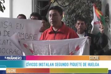 CÍVICOS INSTALAN SEGUNDO PIQUETE DE HUELGA