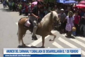 ANUNCIO DEL CARNAVAL Y CABALLADA SE DESARROLLARÁN EL 1 DE FEBRERO