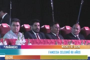 NOCHES DE SUCRE: FANCESA CELEBRÓ 60 AÑOS