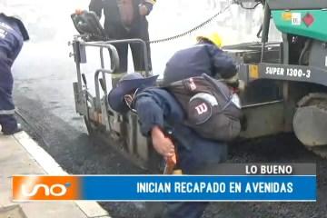 LO BUENO: INICIAN RECAPADO EN AVENIDAS