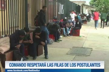 COMANDO RESPETARÁ LAS FILAS DE LOS POSTULANTES