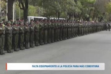 FALTA EQUIPAMIENTO A LA POLICÍA PARA MÁS COBERTURA