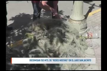 """DECOMISAN 150 MTS. DE """"REDES NOCIVAS"""" EN EL LAGO SAN JACINTO"""