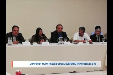 CAMPERO Y OLIVA PREVÉN QUE EL GOBIERNO IMPROVISA EL S.U.S.