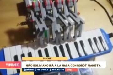 NIÑO BOLIVIANO IRÁ A LA NASA CON ROBOT PIANISTA