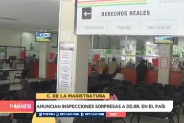 ANUNCIAN INSPECCIONES SORPRESAS  A DD.RR. EN EL PAÍS