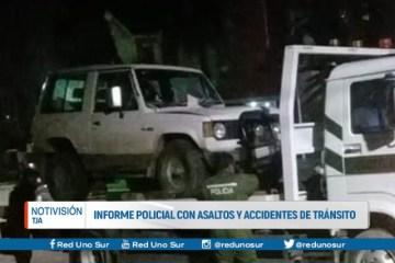 INFORME POLICIAL CON ASALTOS Y ACCIDENTES DE TRÁNSITO