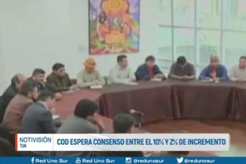 COD ESPERA CONSENSO ENTRE EL 10% Y 2% DE INCREMENTO