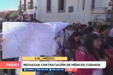 RECHAZAN CONTRATACIÓN DE MÉDICOS CUBANOS