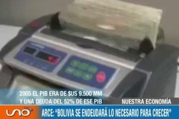 """ARCE: """"BOLIVIA SE ENDEUDARÁ LO NECESARIO PARA CRECER"""""""