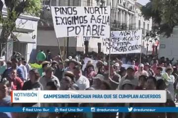 CAMPESINOS MARCHAN PARA QUE SE CUMPLAN ACUERDOS