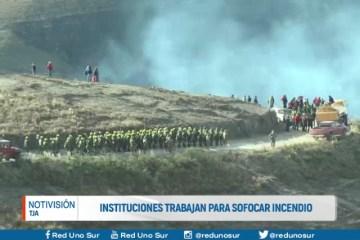INSTITUCIONES TRABAJAN PARA SOFOCAR EL INCENDIO