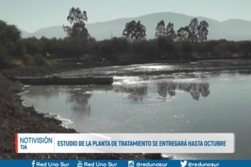 ESTUDIO DE LA PLANTA DE TRATAMIENTO SE ENTREGARÁ HASTA OCTUBRE