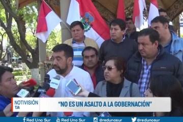 """""""NO ES UN ASALTO A LA GOBERNACIÓN"""""""