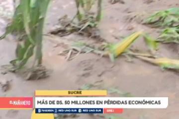 MÁS DE BS. 50 MILLONES EN PÉRDIDAS ECONÓMICAS