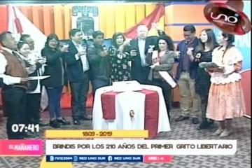 HOMENAJE A LOS 210 AÑOS DEL PRIMER GRITO DE LIBERTAD EN AMÉRICA