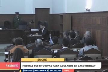 MEDIDAS SUSTITUTIVAS PARA ACUSADOS EN EL CASO ORBISAT