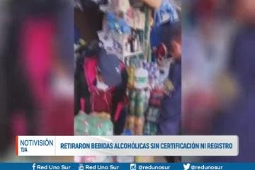 RETIRARON BEBIDAS ALCOHÓLICAS SIN CERTIFICACIÓN NI REGISTRO