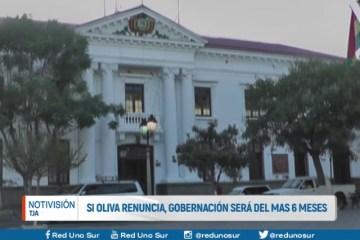 SI OLIVA RENUNCIA, GOBERNACIÓN SERÁ DEL MAS POR 6 MESES