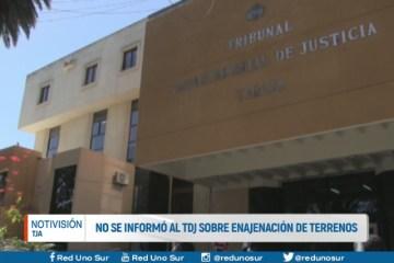 NO SE INFORMÓ AL TDJ SOBRE ENAJENACIÓN DE TERRENOS