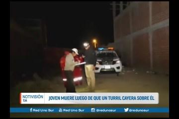 JOVEN MUERE LUEGO DE QUE UN TURRIL CAYERA SOBRE ÉL