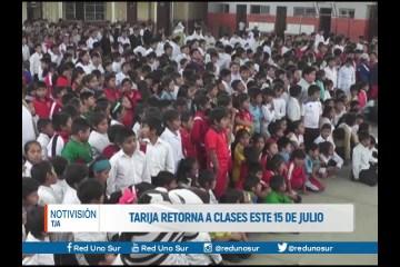 TARIJA RETORNA A CLASES ESTE 15 DE JULIO