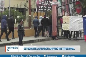 ESTUDIANTES GANARON AMPARO INSTITUCIONAL