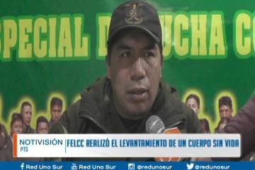 LA FELCC REALIZÓ EL LEVANTAMIENTO LEGAL DE DOS CADÁVERES