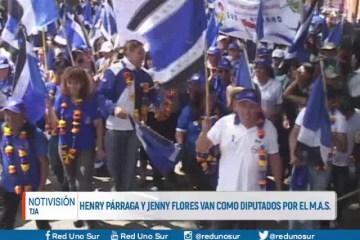 HENRY PÁRRAGA Y JENNY FLORES VAN COMO DIPUTADOS POR EL MAS