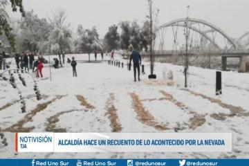 ALCALDÍA HACE UN RECUENTO DE LO ACONTECIDO POR LA NEVADA
