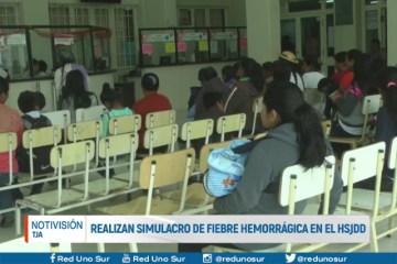 REALIZAN SIMULACRO DE FIEBRE HEMORRÁGICA EN EL HSJDD
