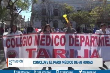 CONCLUYE EL PARO MÉDICO DE 48 HORAS